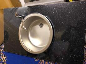 Brand new sink tap and worktop Reduced