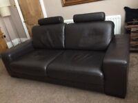 Fenwick Italian Leather Sofa and Chair
