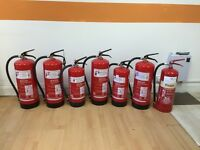 unused fire extinguishers 6 x water 1 x foam for sale perfect for offices/shops