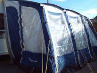 Caravan Awning - Starcamp Futura 390 blue and grey