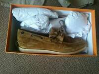 New Hugo boss orange santoc boat shoes size ten