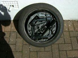 vauxhall vecra spare wheel inc. very good treaed tyre & tools