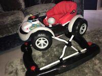 My baby coupe car walker/rocker