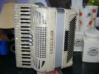 excelsior 120 bass accordion compacted lightweight ladys model