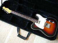 Fender Squier Classic Vibe TELECASTER electric guitar custom 3 colour sunburst superb + Kinsman case