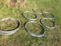 Galvanised wire . Fence wire