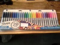 Sharpie Pack Of 28 Permanent Marker Pens 'Limited Edition' Set Brand New