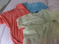 3 M & S Ladies t-shirts as new Size 12/14