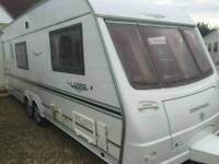 Coachman laser 590/4 twin axle 4 berth 2005 touring caravan