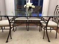 Dining glass table & 6 chairs