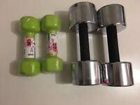2 sets dumbbell (2x10 kg, 2 x2.5)