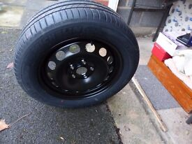 Unused spare wheel\tyre for VW Golf. No more space savers or dodgy repair kits