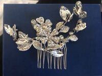 Beautiful Brand New Bridal Diamante Hair Slide From Les Trois Soeurs RRP£150