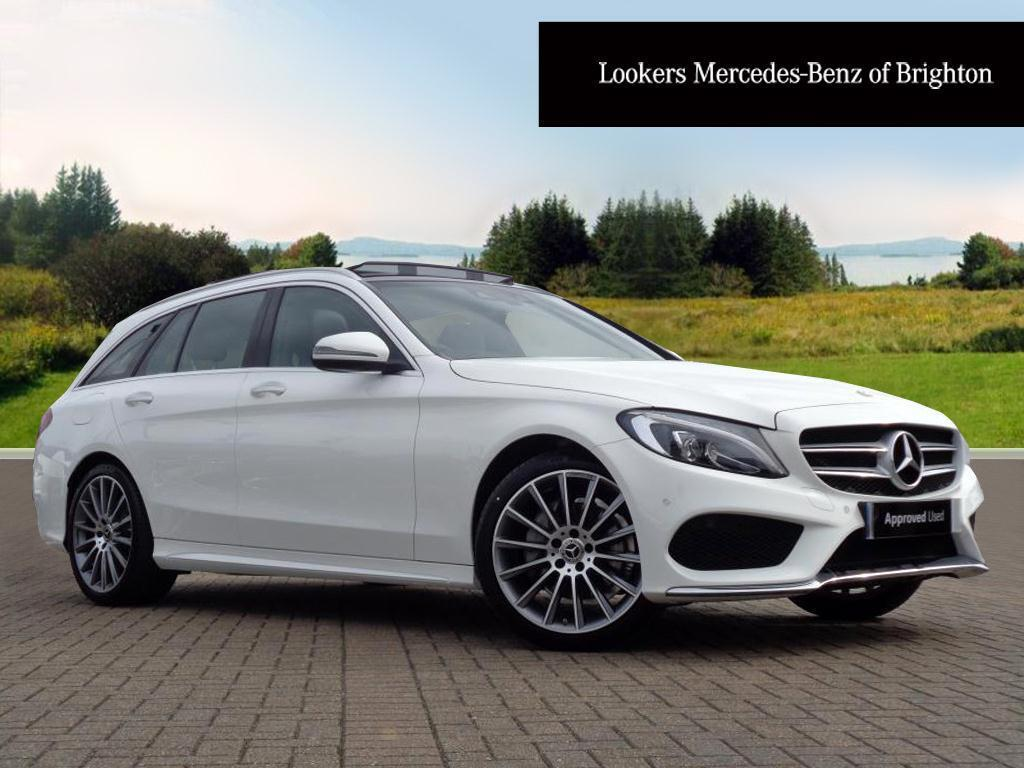 mercedes benz c class c 220 d amg line premium white 2017 03 15 in portslade east sussex. Black Bedroom Furniture Sets. Home Design Ideas