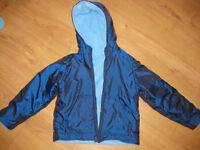 FABULOUS ELECTRIC BLUE REVERSIBLE FLEECE - pockets - GREAT CONDITION Age 6-7 NOW REDUCED!
