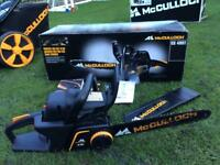 McCulloch CS400t 40cc petrol chainsaw. Boxed.