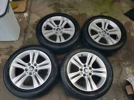 BMW 3 series F30 sport Genuine set of 4 alloys with tyres
