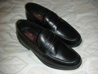 Black Leather Clifford James Shoes - Size 7
