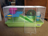 Lovely Hamster Cage in good condition with free Hamster Ball and accessories