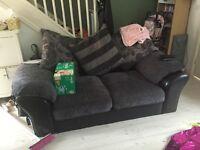 Grey Nd black sofas