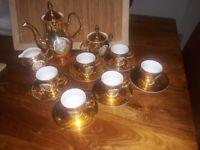 Bernadotte gold coffee set