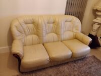 Leather sofa 1x 3 seater and 3x arm chair