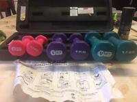V-fit dumbell set