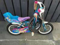 Girls bike from halfords and helmet