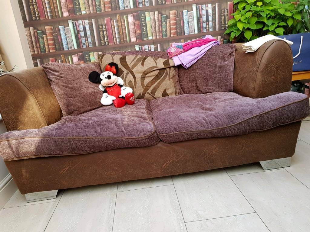 Large 2 Seater Sofa And Swivel Cuddle Chair In Bradford