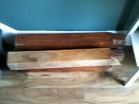Large solid wood dining table, seats 6 easily