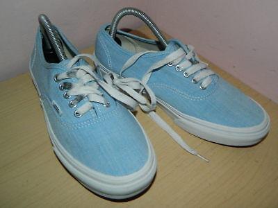 unisex Vans light blue textile lace up plimsolls trainers uk 5 eur 38  (Light Up Vans)