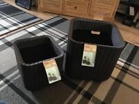 Keter indoor/outdoor garden planters/pots