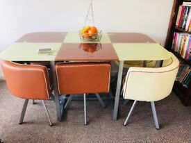 Urgent: Tempered Glass Dining Table/ 6chairs