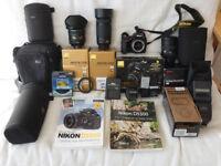 Nikon D5500 + 16-80mm + 8-16mm + 70-300mm Lenses + accessories