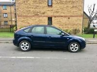 2005 FORD FOCUS 1.6 AUTOMATIC – ONLY 88K WARRANTED MILEAGE, LONG MOT, BLUE, 5 DOOR, PETROL
