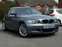 2009 BMW 1 Series 2.0 116d M Sport 5dr LEATHER + BLUETOOTH + £30 TAX not audi a3 ford focus golf
