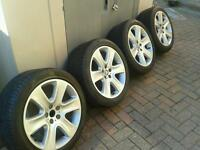 "18"" CYGNUS JAGUAR XF ALLOY WHEELS (GENUINE OE) FITS S TYPE, X TYPE, XJ , XF MAYBE FORD. 245-45-18"
