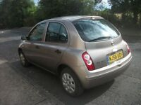 nissan micra 2006 1240cc full service and mot history 5 door lady owner.very clean excellant driver.