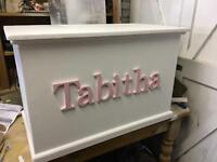 Handcrafted personalised toyboxes