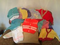 Baby cardigans 3/6 months Hand knit. Collection only