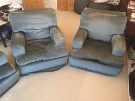 1960's Maples 3-piece settee suite