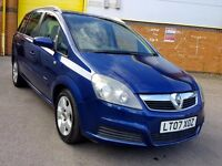2007 7 SEATER VAUXHALL ZAFIRA 1 YEAR MOT 64.000 MILES P/X WELCOME