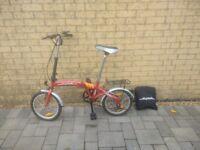 Red Folding Bike Bicycle