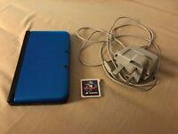 Nintendo 3DS XL Blue Edition + 24 Games + SKY3DS+ Card + Micro SD 64GB + Case (zelda edition)
