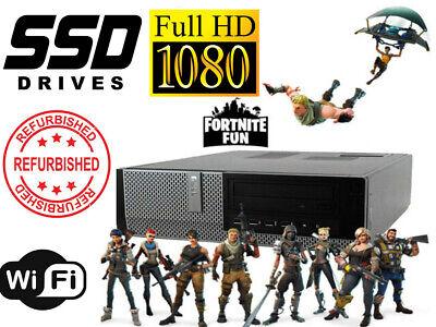 Gaming PC Desktop Computer DELL i7 16GB RAM HD6450 128GB SSD+1TB Win10 WIFI