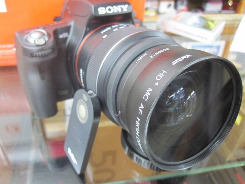 Wide Angle Lens for Sony Alpha A57 A58 a230 a330 A100 A33 A35 A37 WiR REMO T