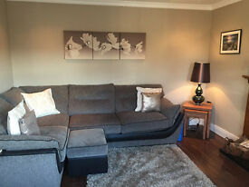 Comfortable Corner Sofa, footstool & One Seater For Sale, Newcastle County Down