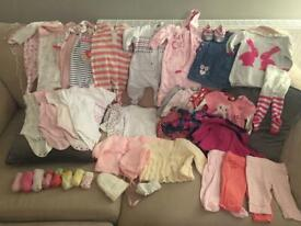 Baby girls 0-3 month cold weather clothing bundle