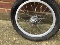 16 inch Aluminium Sturmey Archer Wheel with Tyre 3 Speed