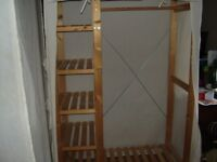 2 x Wood and canvas wardrobes for sale - Excellent condition
